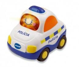 Autíčko Tut Tut Policie česky mluvící plast 8cm na baterie se zvukem se světlem v krabičce Vtech - Rock David