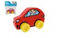 Moje první auto Sporťák myš červené pěna 10x7cm v sáčku 0+