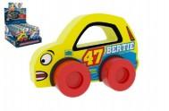 Moje první závodní auto Bertie 47 žluté pěna 9x6cm na kartě 0+