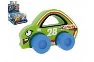 Moje první závodní auto Carlos 28 zelené pěna 9x6cm na kartě 0+