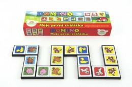 Domino Moje první zvířátka 28ks společenská hra v krabičce 21x6x3cm - Rock David