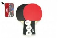 Sada stolní tenis 2ks pálky + 3 míčky v tašce