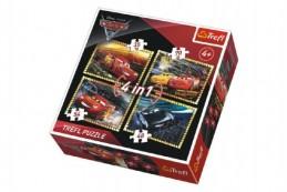 Puzzle 4v1 Auta/Cars 3 Disney v krabici 28x28x6cm - Rock David