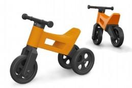 Odrážedlo FUNNY WHEELS 2v1 oranžové výška sedadla od 26cm polohovatelné nosnost 50kg 18m+ - Rock David