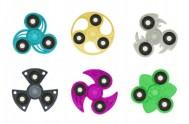 Fidget Spinner glitter 6 druhů v PVC boxu 9x9x1cm