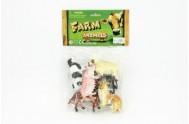 Zvířátka farma plast 6ks v sáčku 16x25x4,5cm