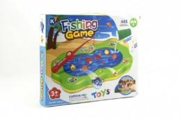 Hra ryby plast společenská hra na baterie - nový druh (možno nalít vodu) v krabici 33x26x5cm - Rock David