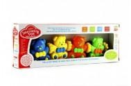 Baby řetěz medvídci plast v krabici 33x12x5cm