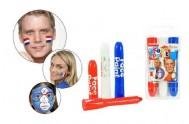 Barvy obličejové 3ks v plastovém pouzdru 6x11cm