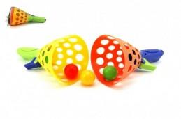 Catch ball hra 2ks + 3 míčky plast 19cm v síťce - Rock David