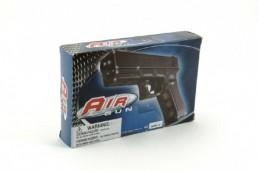Pistole na kuličky 17cm plast + kuličky v krabici - Rock David