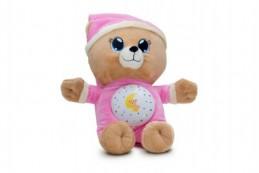 Medvídek Usínáček růžový plyš na baterie se světlem a zvukem v boxu - Rock David