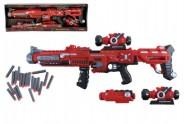 Pistole samopal plast 75cm na pěnové náboje 20ks na baterie v krabici