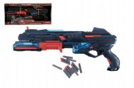 Pistole plast 50cm na pěnové náboje 10ks na baterie v krabici