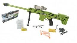 Puška plast 77cm na vodní kuličky odstřelovací na baterie v krabici 65x28x7cm - Rock David