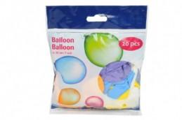 Balonek nafukovací 23cm 20ks v sáčku karneval - Rock David