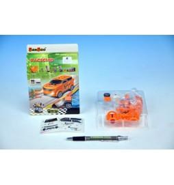 Stavebnice BanBao Auto závodní na zpětné natažení 23ks v krabičce