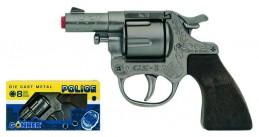 Policejní revolver kovový stříbrný kovový 8 ran - Renčín Vladimír