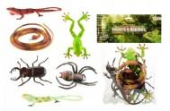 Zvířátka plazi/hmyz plast 6ks v sáčku