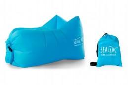 Samonafukovací sedací vak modrý voděodolný 110x70x80cm SeatZac v sáčku - Rock David