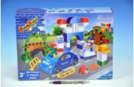 Stavebnice BanBao Dopravní policie 38ks + 2 figurky v krabici 33x24x10