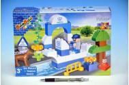 Stavebnice BanBao Pobřežní Policie 34ks + 1 figurka v krabici 28x19x7cm