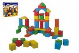 Kostky stavebnice dřevo 50 ks v krabici 20x19x8cm - Rock David