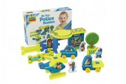Moje první policejní stanice pěna 25ks v krabici 30x20x7cm 0+ - Rock David