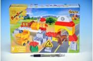 Stavebnice BanBao Stavitel mostů 34ks + 1 figurka v krabici 28x19x7cm