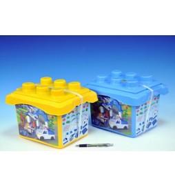 Stavebnice BanBao Policejní stanice 63ks + 3 figurky v plastovém boxu