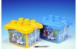 Stavebnice BanBao Policejní stanice + 3 figurky v plastovém boxu