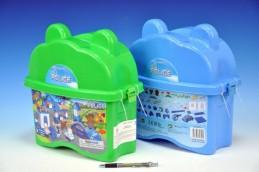 Stavebnice BanBao Policejní stanice 66ks + 2 figurky v plastovém boxu - Teddies s.r.o