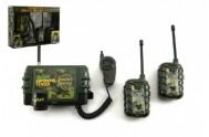 Vysílačky walkie-talkie plast na baterie 3ks v krabici