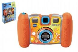 Kidizoom Twist Plus X7 Vtech fotoaparát s funkcemi oranžový plast 15cm na baterie v krabičce 21x29cm - Rock David
