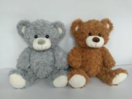 Plyšový medvídek hnědý, šedý 38 cm - Renčín Vladimír