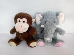 Zvířata plyšová (slon, opička) 27 cm - Renčín Vladimír