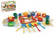 Kuchyňský set nádobí 59ks plast v krabici 12m+