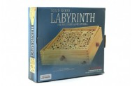 Labyrint s kuličkou dřevo 32,5cm v krabici
