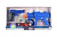 Sada policie pistole 2ks + doplňky plast na baterie se zvukem se světlem v krabici 46x23x5cm