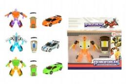 Transformer auto/robot mini plast/kov 8cm v krabičce - Rock David
