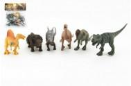Dinosaurus plast 17cm 6ks v sáčku