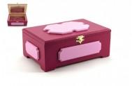 Skříňka/Šperkovnice dřevo růžová 20x13x8cm