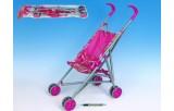 Kočárek Stroller - golfové hole růžový kov 25x37x53cm v sáčku