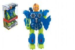 Robot plast 30cm na baterie se zvukem se světlem v krabici - Rock David