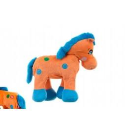 Kůň plyš 30cm chodící na baterie v sáčku