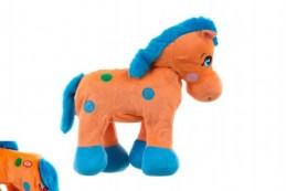Kůň plyš 30cm chodící na baterie v sáčku - Rock David