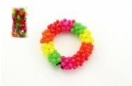 Náramek korálkový plast mix barev 10ks v sáčku