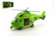 Vrtulník plast 44cm na baterie se světlem a zvukem v krabici