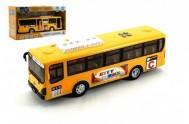 Autobus plast 30cm na baterie se zvukem se světlema setrvačník v krabici