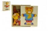 Šatník medvěd dřevo 12,5x14x4cm 12m+